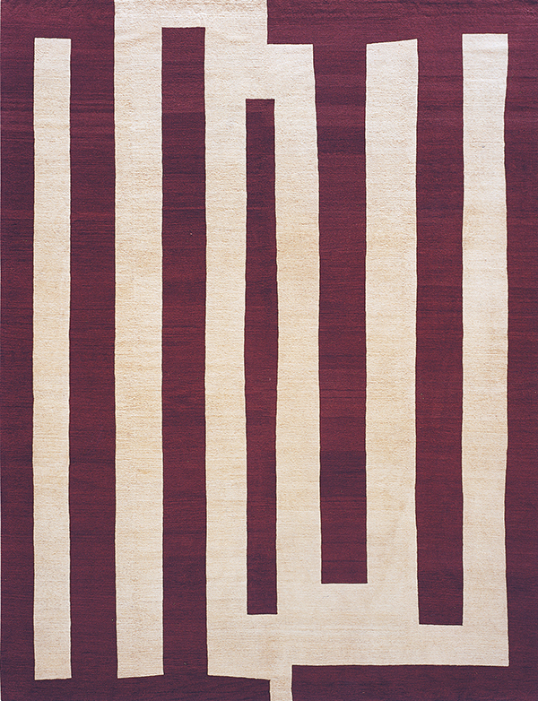 Bars in color Aubergine by Warp and Weft | warpandweft.com