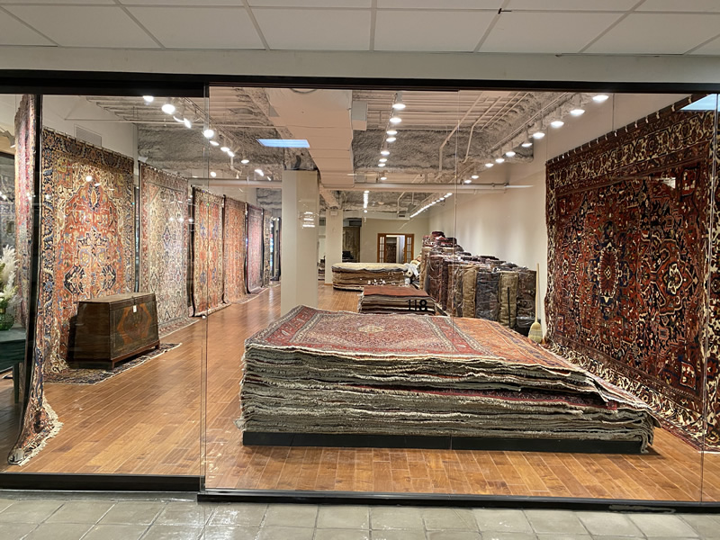 Feizy Rugs' expanded showroom