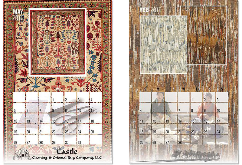 Woven Treasures Retailers Advertising Calendar